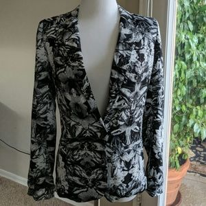 Urban Outfitters black&white floral blazer size S